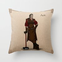 valar morghulis Throw Pillows featuring Aule by wolfanita