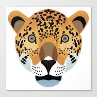 jaguar Canvas Prints featuring Jaguar by James Boast