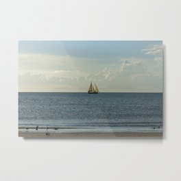 Sailing Along the Coast Metal Print
