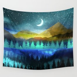 Silent Forest Night Wall Tapestry