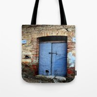 door Tote Bags featuring door by  Agostino Lo Coco