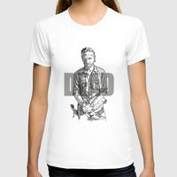 rick grimes T-shirts featuring Rick Grimes The Walking Dead by Mark McKenny