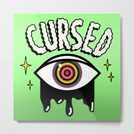 Cursed Eye Metal Print