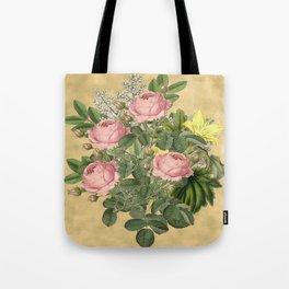 Heirloom Rose Bouquet Tote Bag