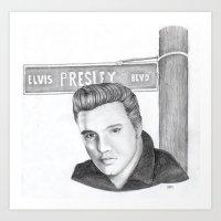 Elvis Portrait Art Print