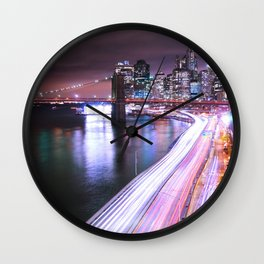 City Lights Highway Wall Clock