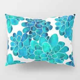 Turquoise succulents Pillow Sham