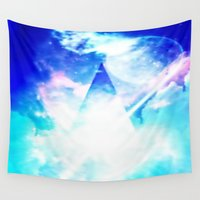 prism Wall Tapestries featuring prism by Alyxka Pro