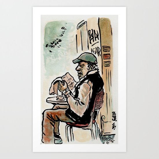 Il vecchio de la Garbatella - the old man from Garbatella Art Print