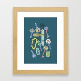 Moving Home House Warming - Teal Framed Art Print