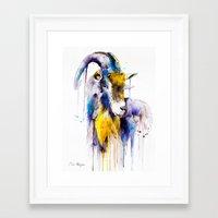 goat Framed Art Prints featuring Goat  by Slaveika Aladjova