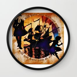Kaz and Inej - armor Wall Clock