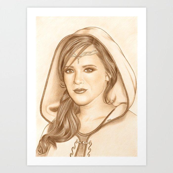 Elf Lady Art Print