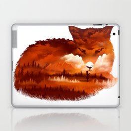 The Girl in the Red Forest Laptop & iPad Skin