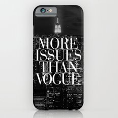 More Issues Than Vogue Black and White NYC Manhattan Skyline Slim Case iPhone 6