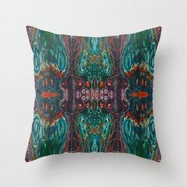 Pulse of Kelp (Sonic Sea Surge) Throw Pillow