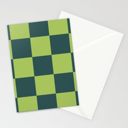 classic green plaid Luca Stationery Cards