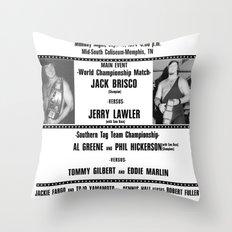 #1 Memphis Wrestling Window Card Throw Pillow