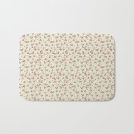 Shabby Chic Roses on Green Bath Mat