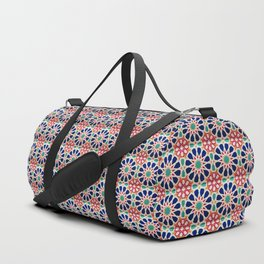 -A21- Traditional Colored Moroccan Mandala Artwork. Duffle Bag