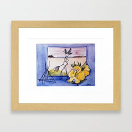`GLOOSCAP'  From the Mic Macs, Canada Lege     by Kay Lipton Framed Art Print