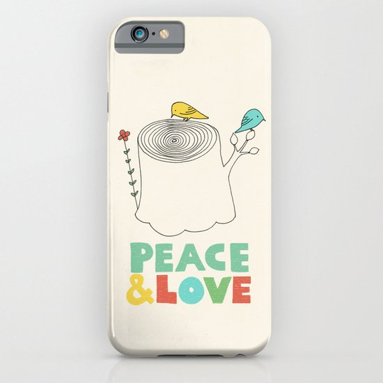 Peace & Love iPhone & iPod Case