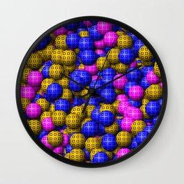 Patterned Balls Wall Clock