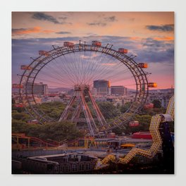 Wheel of fortune in Vienna Canvas Print