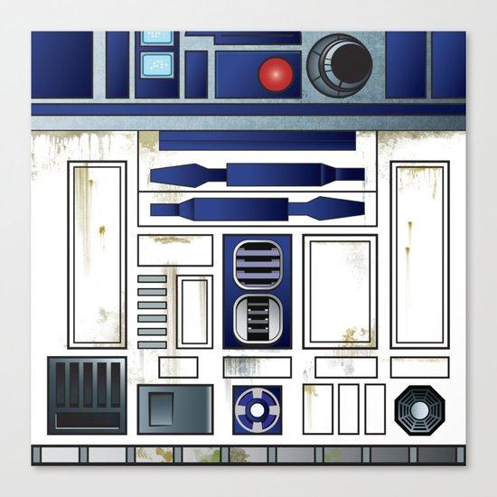 Plucky Droid Canvas Print