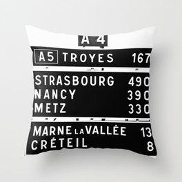 490 km to Strasbourg - The Polaroid Project Throw Pillow