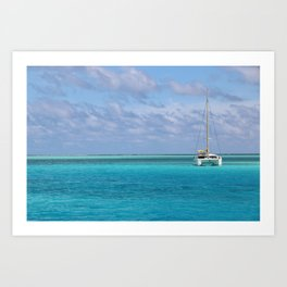 Anchorage at Bora Bora Art Print