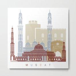 Muscat skyline poster Metal Print