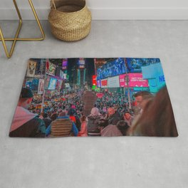 Crowd on the Street Rug