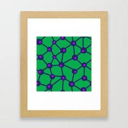 Trails on green Framed Art Print