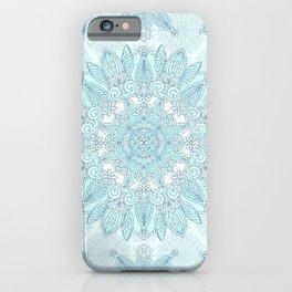 Icy blue mandala iPhone Case
