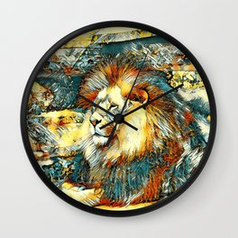 AnimalArt_Lion_20171019_by_JAMColorsSpecial Wall Clock