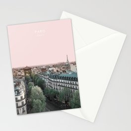 Paris Skyline, France Travel Artwork Stationery Cards