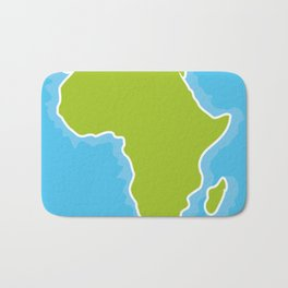 map of Africa Continent and blue Ocean. Vector illustration Bath Mat