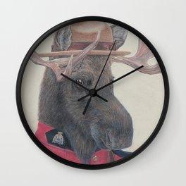 Canadian Moose Wall Clock