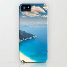 The famous beach Myrtos in Kefalonia island, Greece iPhone Case