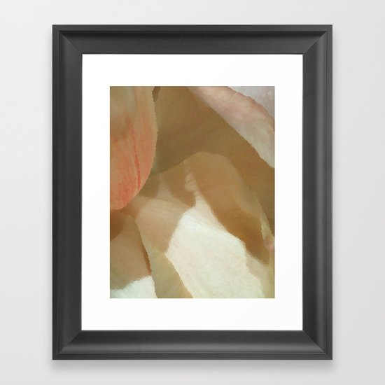 Soft and Pale - Peonies Framed Art Print