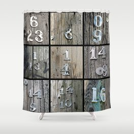 Hydro Pole Numbers Shower Curtain