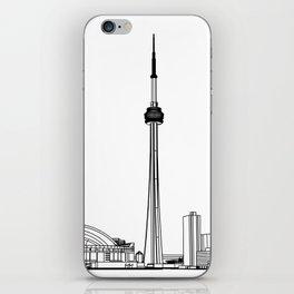 Toronto Skyline - Black on White iPhone Skin