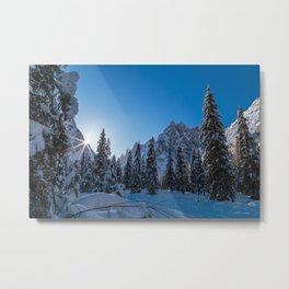 Sunny morning in Val Fiscalina Metal Print