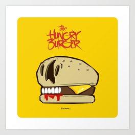The Hungry Burger Art Print