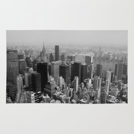 New York City Black and White Rug