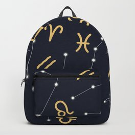 Zodiac signs seamless pattern Backpack