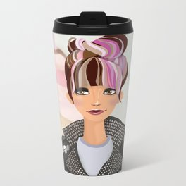 Punk Girl  Metal Travel Mug