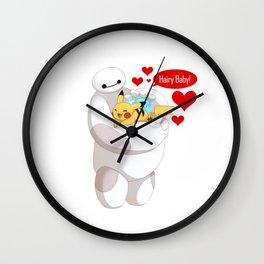 BaymaxAndPokemon Wall Clock