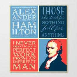 Alexander Hamilton Quotes Canvas Print
